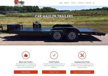 p and t trailers website image