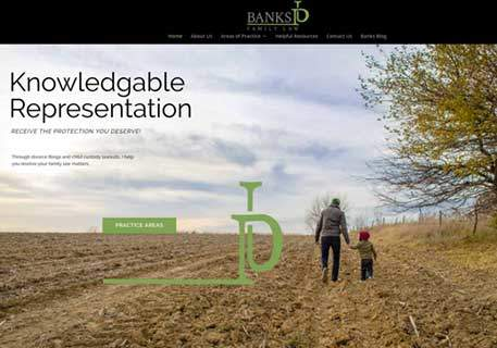 banks family law website image