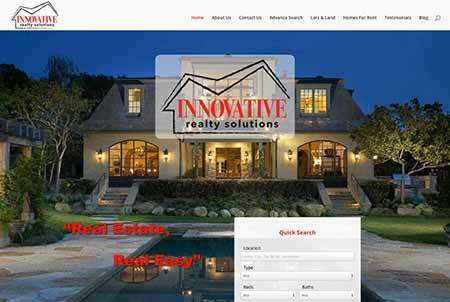 Innovative realty solutions website image