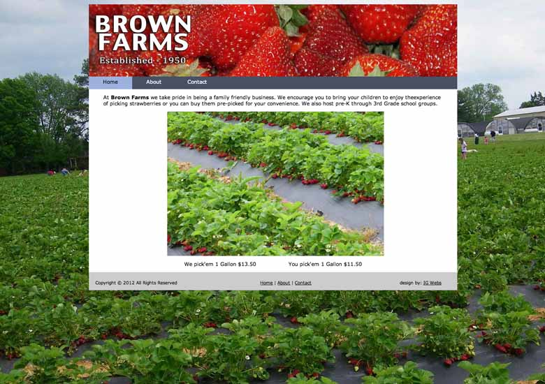 Brown Farms Straberries