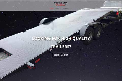 rocket city trailers website page