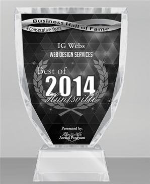 Huntsville web design best of award