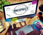 computer screen showing Respect
