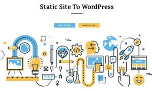 converting static site to WordPress