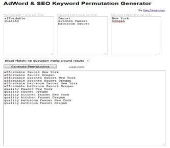 keyword permutation generator