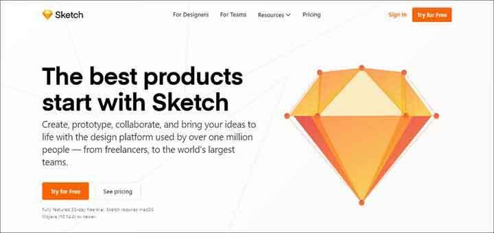 Sketch website image