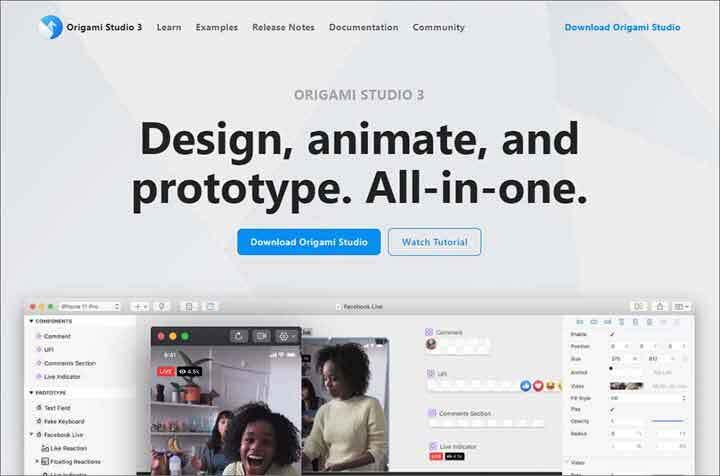 Origami Studio website