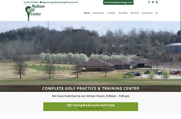 Madison Golf Center website