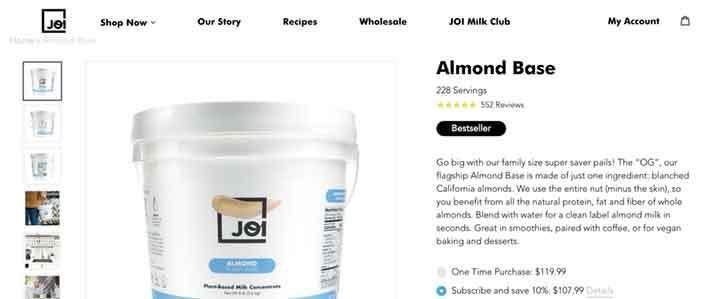 value proposition in joy product description