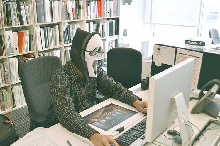 hacker behind the computer